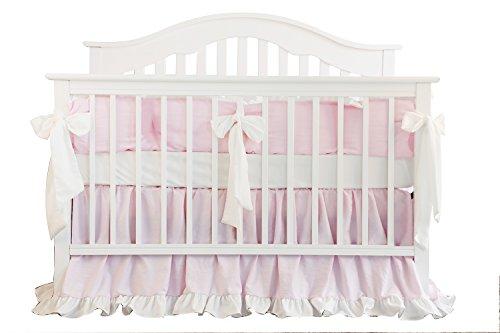 Blush Coral Pink Ruffle Crib Bedding Set Baby Girl Bedding Blanket Nursery Crib Skirt Set Baby G ...