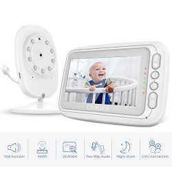 "Baby Monitor, UOKIER 4.3"" Video Baby Monitor with Camera and Audio, 1000ft Range, VOX Mode ..."