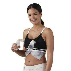 BRAVADO! DESIGNS Women's Maternity Clip and Pump Hands-Free Nursing Bra Accessory, Black,  ...