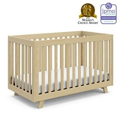 Stork Craft Storkcraft Beckett 3-in-1 Convertible Crib Fixed Side Crib, Solid Pine & Wood Pr ...