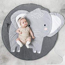 litymitzromq Ultra Soft Indoor Modern Area Rugs, Cartoon Elephant Pattern Baby Play Mat Pad Craw ...