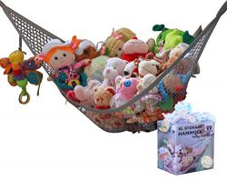 MiniOwls Toy Hammock Organizer Plush Toy Storage for Baby/Nursery or Bed Room. Fits All Décor. C ...