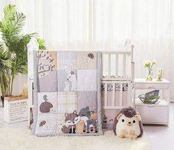 La Premura Woodland Forest Baby Nursery Crib Bedding Set – Fox, Deer, Hoglet & Bunnies ...