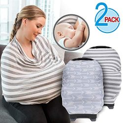 Baby Nursing Cover for Breastfeeding (2-Pack) – Easy to use Breastfeeding Cover Ups – ...