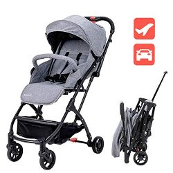 Lightweight Baby Stroller for Toddler Travel, Infant Convenience Stroller,Portable Airplane Trav ...