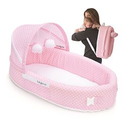 Lulyboo Travel Infant Bed – On The Go Baby Lounger Backpack – Combines Crib,  Plaype ...