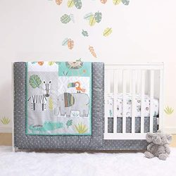 The Peanutshell Safari Crib Bedding Sets for Boys | 3 Piece Nursery Set | Crib Comforter, Fitted ...