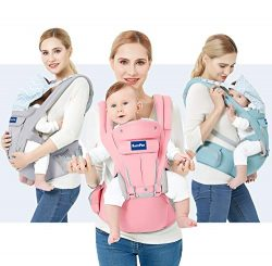 BabyPro 360 Baby Carrier with Hip Seat, 9 Ergonomic Positions, All Season Baby Sling for Newborn ...