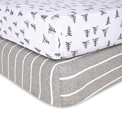 Burt's Bees Baby – Fitted Crib Sheets, 2-Pack, Boys & Unisex 100% Organic Cotton ...