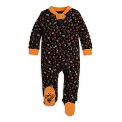 Burt's Bees Baby Unisex Baby Sleep & Play, Organic Pajamas, NB-9M One-Piece Zip Up Foo ...