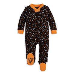 Burt's Bees Baby Unisex Baby Sleep & Play, Organic Pajamas, NB-9M One-Piece Zip Up Foo ...