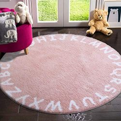 LIVEBOX ABC Kids Play Mat, Alphabet 3ft Round Area Rugs Soft Plush Educational Learning & Ga ...