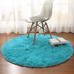 Noahas Luxury Round Rugs for Princess Castle Ultra Soft Play Tent Rug Circular Area Rugs for Kid ...