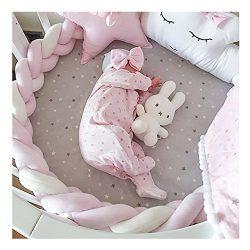 LOAOL Baby Crib Bumper Knotted Braided Plush Nursery Cradle Decor Newborn Gift Pillow Cushion Ju ...