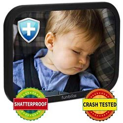 Baby Car Mirror for Back Seat Black – Safely Monitor Infant Child in Rear Facing Car Seat, ...