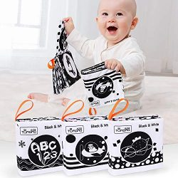 TUMAMA Baby Toys 0 3 6 to 12 Months,Soft Cloth Books for Babies, My First Soft Books Early Educa ...