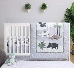 The Peanutshell Dinosaur Crib Bedding Sets for Boys | 3 Piece Nursery Set | Crib Comforter, Fitt ...