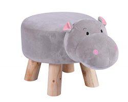 LITTLE POPI, Children's Favorite Animal Ottoman, Kids Footrest Stool, Plush Ride on Seat,  ...