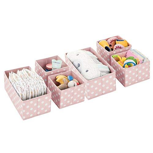 mDesign Soft Fabric Dresser Drawer, Closet Storage Organizers for Child/Kids Room, Nursery, Play ...