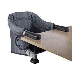 Hook On Chair, Clip on High Chair, Fold-Flat Storage Portable Baby Feeding Seat, High Load Desig ...