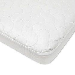 American Baby Company Waterproof Fitted Porta/Mini Crib Protective Mattress Pad Cover, White (1  ...