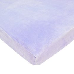 American Baby Company Heavenly Soft Chenille Fitted Cradle Sheet, Lavender, for Girls