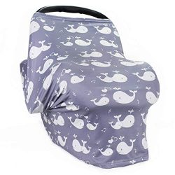 Nursing Breastfeeding Cover – Multi use Baby Car seat Cover for Girls and Boys
