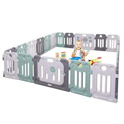 Moromuu Baby Playpen, 22 Panel, Kids Safety Play Yard with Activity Wall and Lock Gate, Children ...