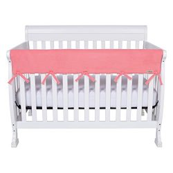 Trend Lab Waterproof CribWrap Rail Cover – for Wide Long Crib Rails Made to Fit Rails up t ...