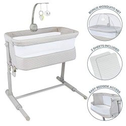 Lil' Jumbl Baby Bedside Bassinet | Standalone Crib & Co Sleeper Combo for Infants 0-6  ...