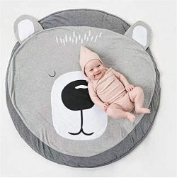 Abreeze Bear Baby Round Play Pad Crawling Mat Crawl Cushion Air-Conditioned Rug for Kids Childre ...