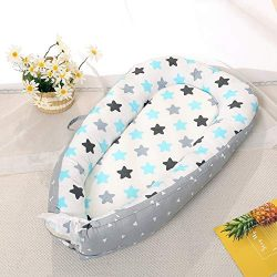 Baby Lounger and Baby Nest Sharing Co Sleeping Baby Bassinet – 100% Soft Cotton Cosleeping ...