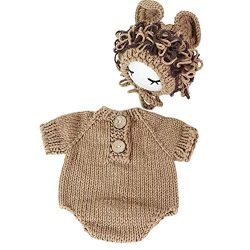 Tee-Mo Newborn Baby Photo Props Crochet Lion Costume Sets for Boys Girls Baby Photography Props  ...