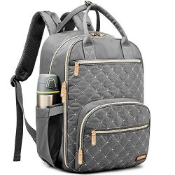 Diaper Bag, Multifunction Nappy Backpack, Maternity Baby Care Changing Pad Travel Compartment Ba ...