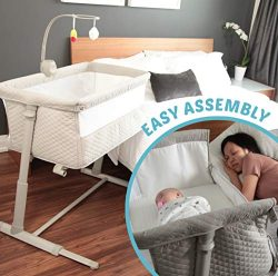 Baby Bassinets – Adjustable and Easy to Assemble Bassinet for Baby, Lightweight Baby Bassi ...