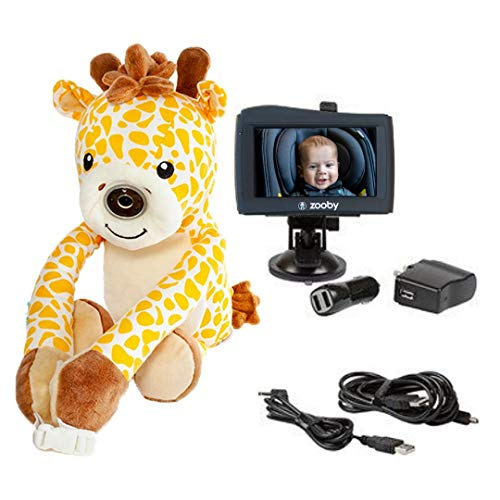 zooby kin Quick Glance Wireless Video Baby Monitor for Car, Home, Anywhere! Truly Portable Plush ...