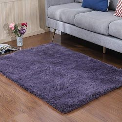YJ.GWL Soft Shaggy Area Rugs for Bedroom Kids Room Children Playroom Non-Slip Living Room Carpet ...