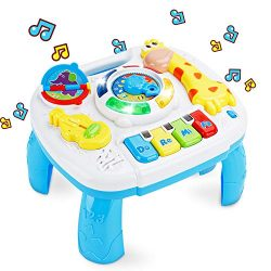 baccow Baby Toys 6 to 12-18 Months Musical Educational Learning Activity Table Center Toys for T ...