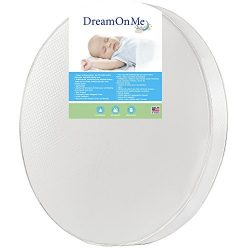 Dream On Me 4″ Thick Round Crib Mattress