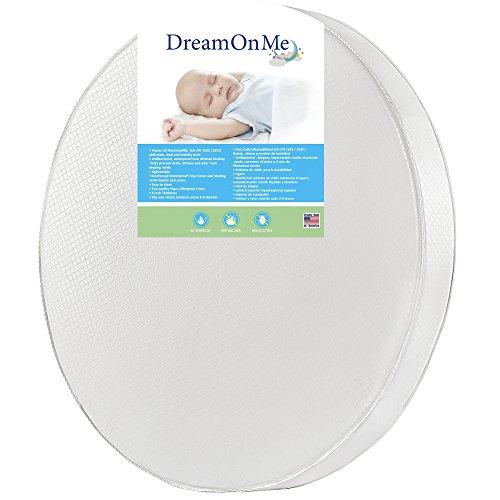 Dream On Me 4″ Thick Round Crib Mattress